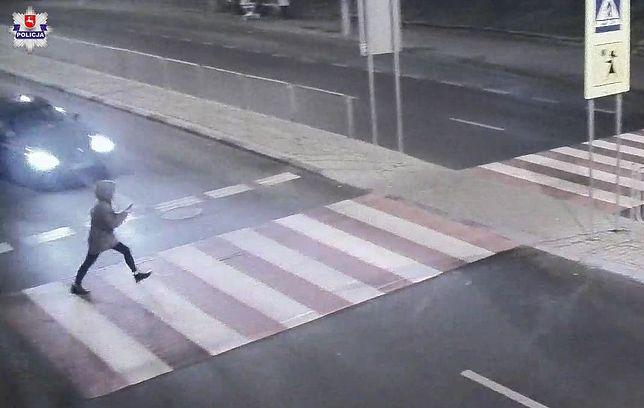 kobieta potrącona na przejściu